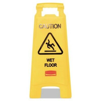 """Rubbermaid 611277 """"Caution Wet Floor"""" 2-Sided Floor Sign, Yellow (RCP611277YW)"""