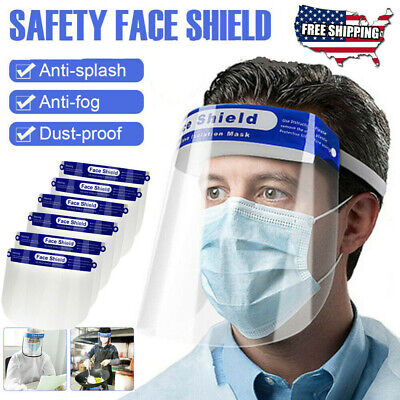 Anti-Fog Oil Work Safety Protection Face Full Face Shield Cover Clear Flip Up