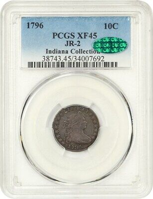 1796 10c PCGS/CAC XF45 (JR-2) Solid Choice XF - Bust Dime - Solid Choice XF