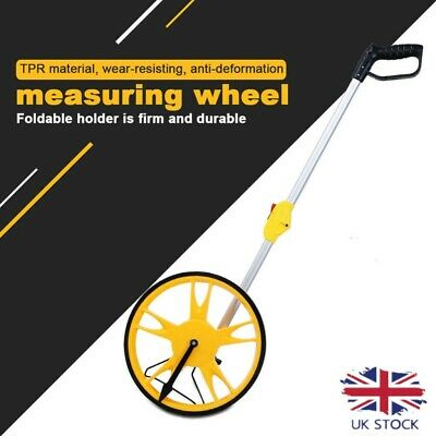 Foldable Distance Measuring Tool Wheel Surveyors Builders Road Land 0-9999.9M UK