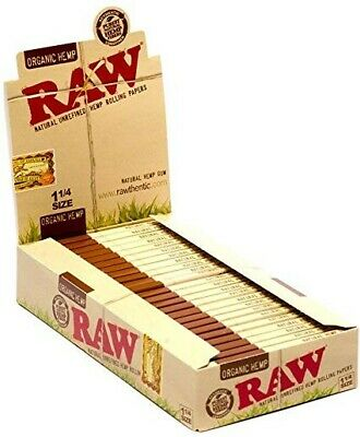 24Packs Raw Unrefined Organic 1.25 1 1/4Cigarette Rolling Papers buy 10get 1free