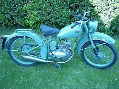 Bsa Bantam D1 Rigid Motorcycle 1952 With V5C Matching Numbers