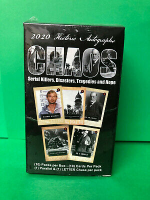 2020 Historic Autographs Chaos Serial Killers Disasters Hope Factory Sealed Box