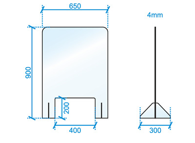 Perspex Sneeze Screen Clear Acrylic Counter Standing  Shield Retail Shop Counter