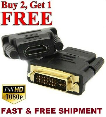 Bran new DVI-D to HDMI Adapter 24+1 Male to Female Dual Link Converter Connector