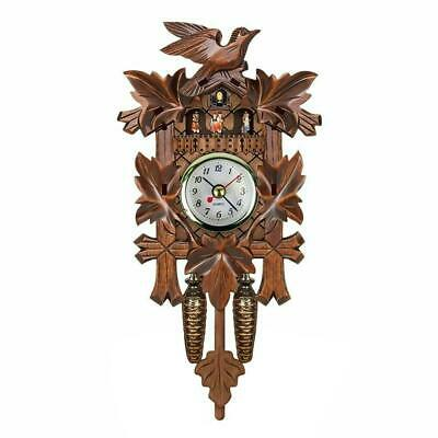 Antique Mini Cuckoo Clock Vintage Forest Quartz Swing Wall Decor Art Alarm E5Z0