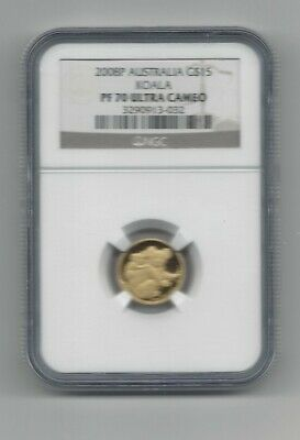 2008-P $15 Gold Australian Koala Proof Coin NGC PF70 Ultra Cameo