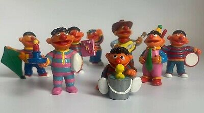 Vintage Sesame Street Muppet Applause PVC Toy Figurines Bundle Lot Of 8 80's 90