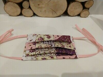 Handmade Facemasks cotton re-useable Washable shabby chic fabric