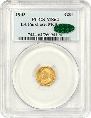 1903 McKinley G$1 PCGS/CAC MS64 - Classic Commemorative - Gold Coin