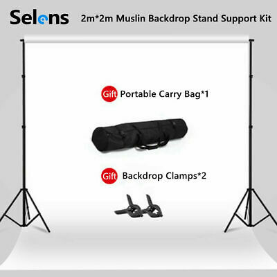 Photography White Backdrop Photo Background Studio Screen Stand Support Kit