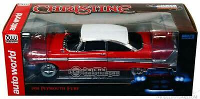 Christine Plymouth Fury Tinted Windows Stephen King AWSS102 Auto World 1/18