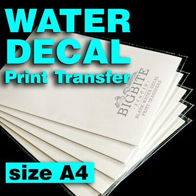 Blank Water Decal Paper Sheets for DIY Shabby Chic Projects (size A4)