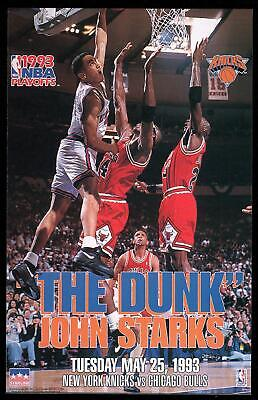 Vintage Starline: The Dunk: John Starks Dunks on Michael Jordan NBA Licensed