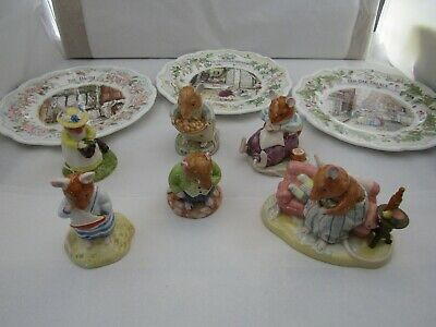 Royal Doulton  Brambly Hedge  Jill Barklem  Plates  Figures  Select From List