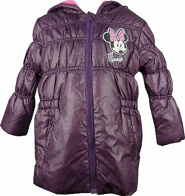Girls Disney Minnie Mouse Hooded Winter Jacket Purple-4 Years / 104 cm