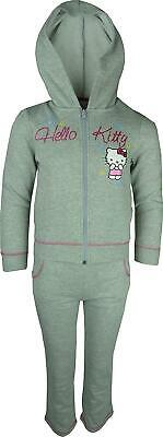 Girls Hello Kitty Tracksuit Jogging Suit Grey