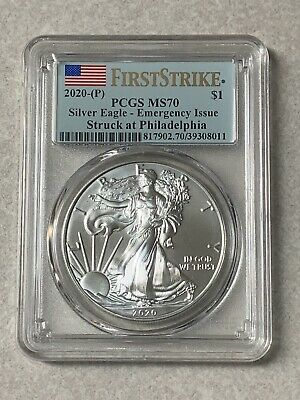 2020 (P) 1 oz Silver American Eagle PCGS MS 70 FS Emergency Issue (Very Rare)