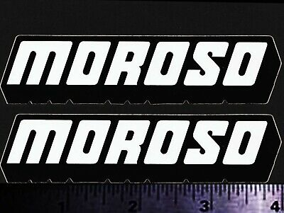 MOROSO - Set of 2 Original Vintage 1960's 70's Racing Decals/Stickers - 4 inch