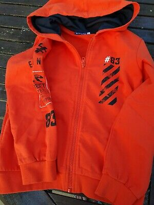 Original Matines Boy Or Girl Zipped Hoodie Coral Red Size 8