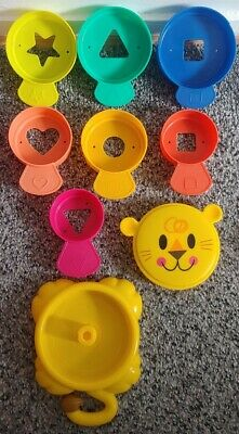 LION TOY SHAPE SORTER  Fun Activity Toy baby toddler 7 different shapes
