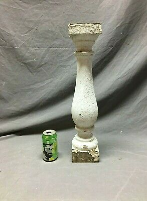 1 Large Antique Turned Wood Spindle Porch Baluster Thick Chunky Old Vtg  458-20B