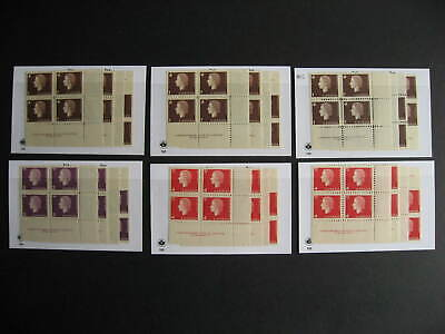 Canada 6 cameo MNH matched sets of plate blocks, 24 PB total here
