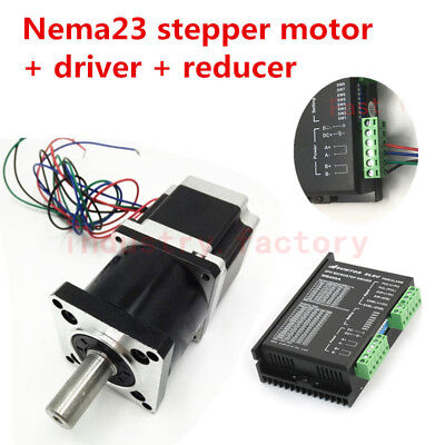 Nema23 257oz-in Stepper Motor Driver 76mm 30:1 Planetary Gear Speed Reducer 4.2A
