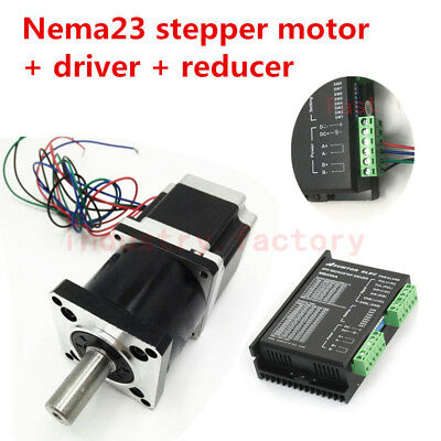 Nema23 1.1Nm Stepper Motor Driver Kit 30:1 CNC Planetary Gearbox 2 phase MB450A
