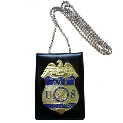 Prop Role Play Cosplay Badge ATF Badge Holder Card Wallet Office Badge Holder