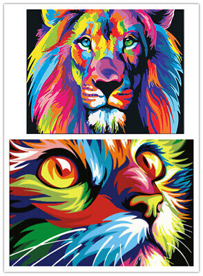 DIY Paint By Numbers Kit Digital Oil Painting Animal Scenery Art Wall Home Decor