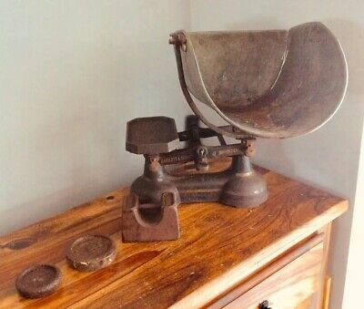 Vintage Cast Iron Shop Scales By Bartlett And Sons