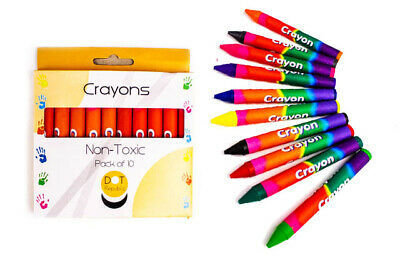Pack of 10 Non Toxic Crayons