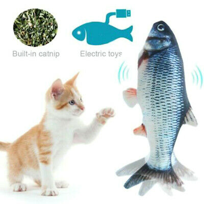 Cat Electric Wagging Fish Plush Realistic Simulation Doll Fish Cat Playing Toys