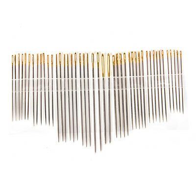 Combination tail gold plated hand sewing needles stainless steel knitting nee_ti
