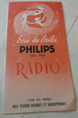 ancien catalogue publicitaire radio tsf philips n2