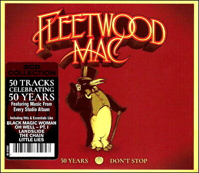 FLEETWOOD MAC * 50 Greatest Hits * NEW 3-CD Boxset * ALL Original Songs * NEW