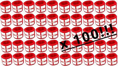 100 x England Flag Design Reversible Sweatbands with St George Cross Red