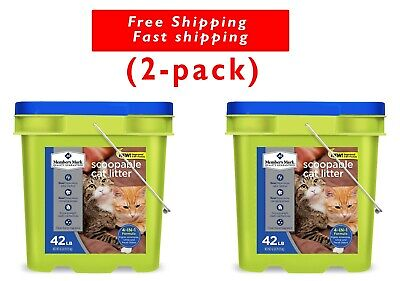 Member's Mark 4-in-1 Formula Scoopable Cat Litter, 42 lbs. (2 buckets)
