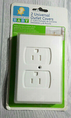 (2) Universal Outlet Covers Especially For Baby  Covers