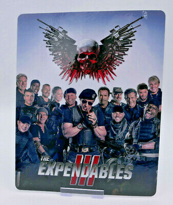 EXPENDABLES 3 stallone - Glossy Bluray Steelbook Magnet Cover (NOT LENTICULAR)