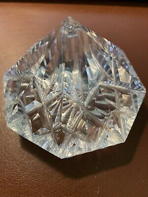 Waterford Lismore Crystal Diamond Shaped Paperweight