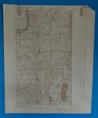 Mars Hill, Maine, USGS Topographic Map, Vintage, 1940 Edition