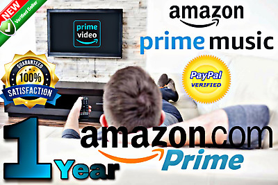 🔥 12 MONTHS ( 1 year ) Amazon Prime Video + Prime Music | FAST DELIVERY 🔥