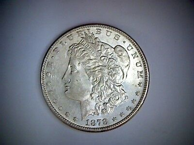 1878-S United States Morgan Silver Dollar .77344 Ounce Silver, Old U.s. Coin