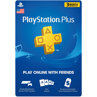 Sony PlayStation Plus 3 Month / 90 Day Membership Subscription Card Code US