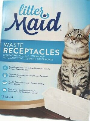 LitterMaid Disposable/Sealable Waste Receptacles 18-Count Litter Boxes Cat Pet
