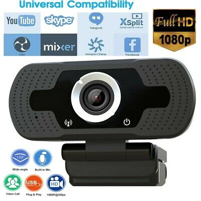 USB Webcam Full HD 1080P Video Web Camera con microfono per PC desktop Computer