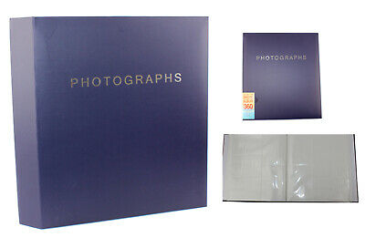 Extra Large Navy Blue Slip In Photo Album Holds 360 6 x 4 Photos