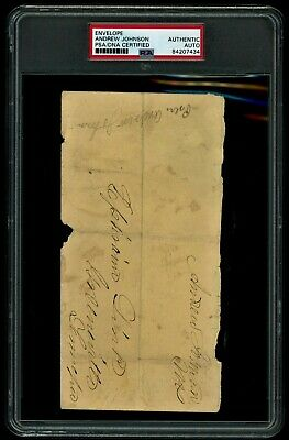 Andrew Johnson President Signed Autograph Psa/Dna Authentic!